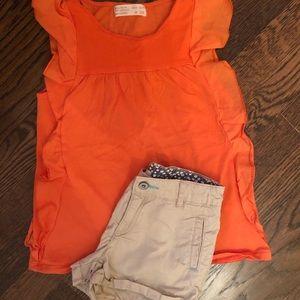 Zara girls shirts and shirt size 6/7